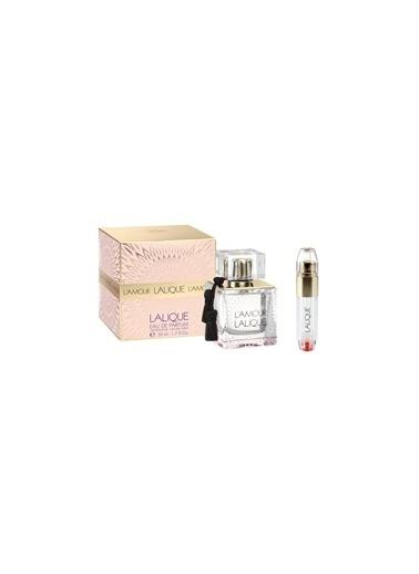 Lalique L'Amour EDP 50 ml + Travel Spray Kadın Parfüm Seti Renksiz